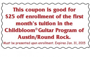 Coupon for lessons - 2015