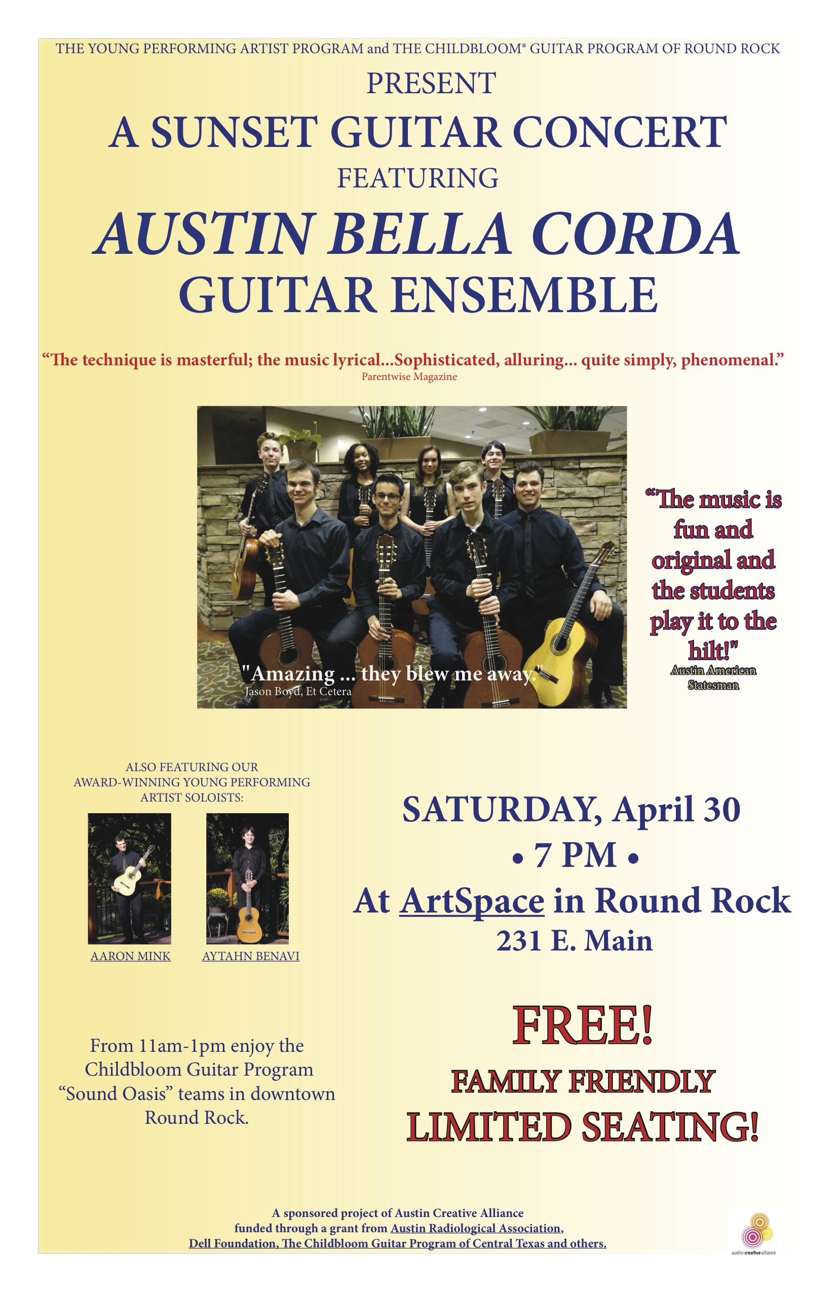 Guitar Day in Downtown Round Rock on April 30